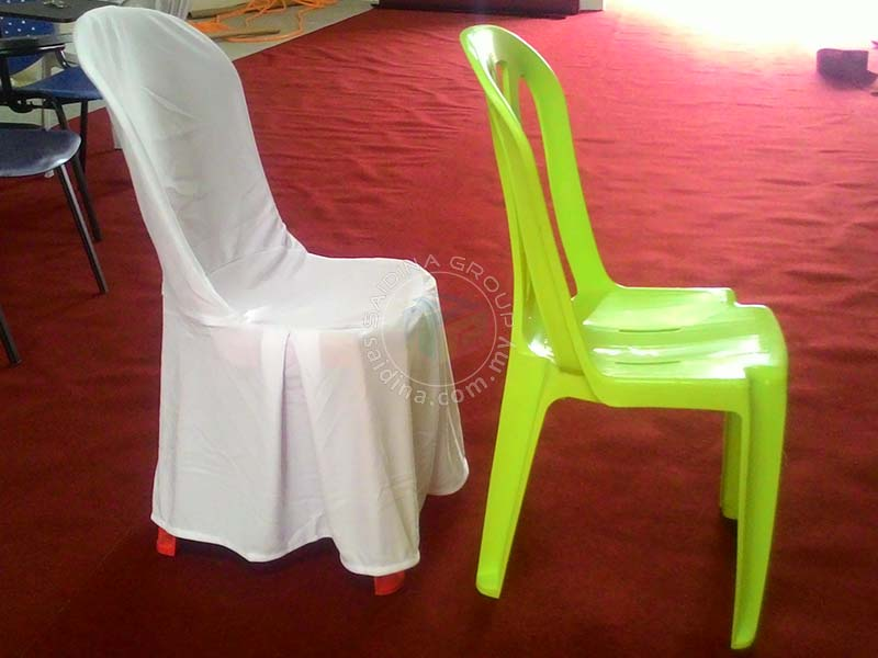 The cheapest price of high quality plastic and banquet chair covers in malaysia saidina excel Furniture plastic cover